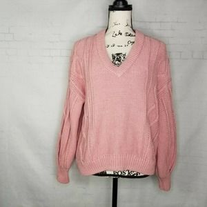 Madewell Augustus Cable Knit Sweater Women Size M